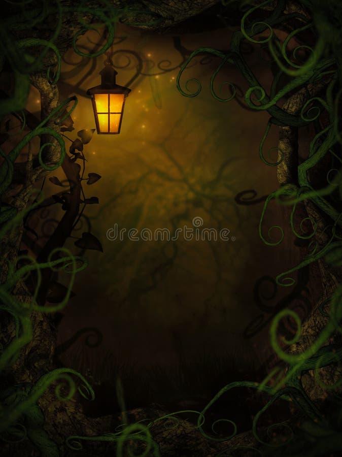 Halloween-Hintergrund mit gespenstischen Reben vektor abbildung