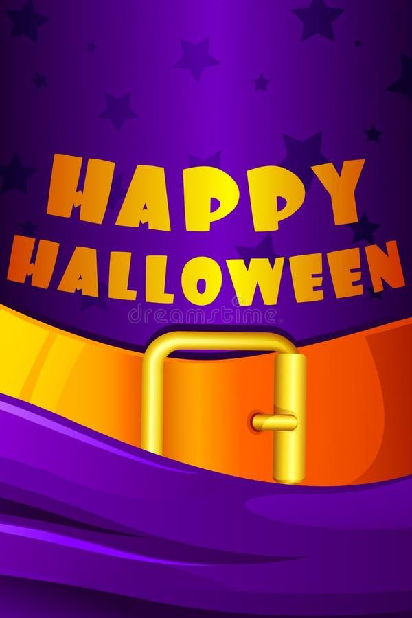 Halloween-Hintergrund mit Hexen-Hut lizenzfreie abbildung