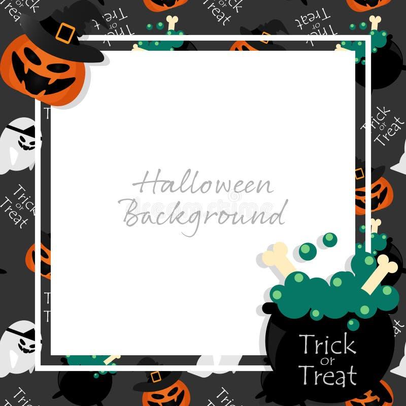 Halloween-Hintergrund mit S??es sonst gibt's Saures Text lizenzfreie abbildung