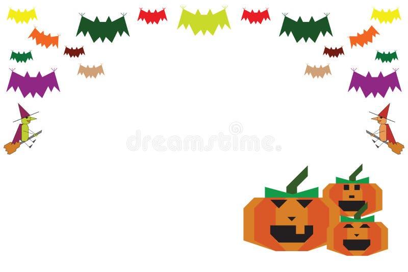 Halloween-Hintergrund schlägt Hexen und Kürbise stock abbildung