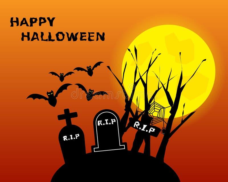 Halloween-Hintergrund Vektor vektor abbildung