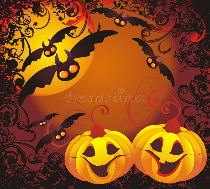 Halloween-Hintergrund. Vektorabbildung lizenzfreie abbildung