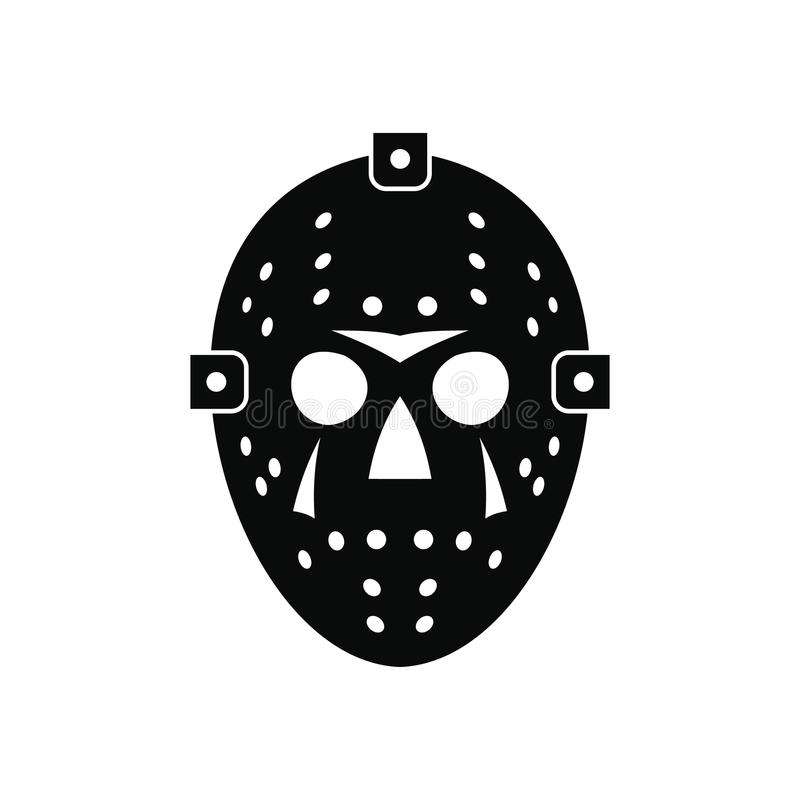Halloween hockey mask black simple icon royalty free illustration