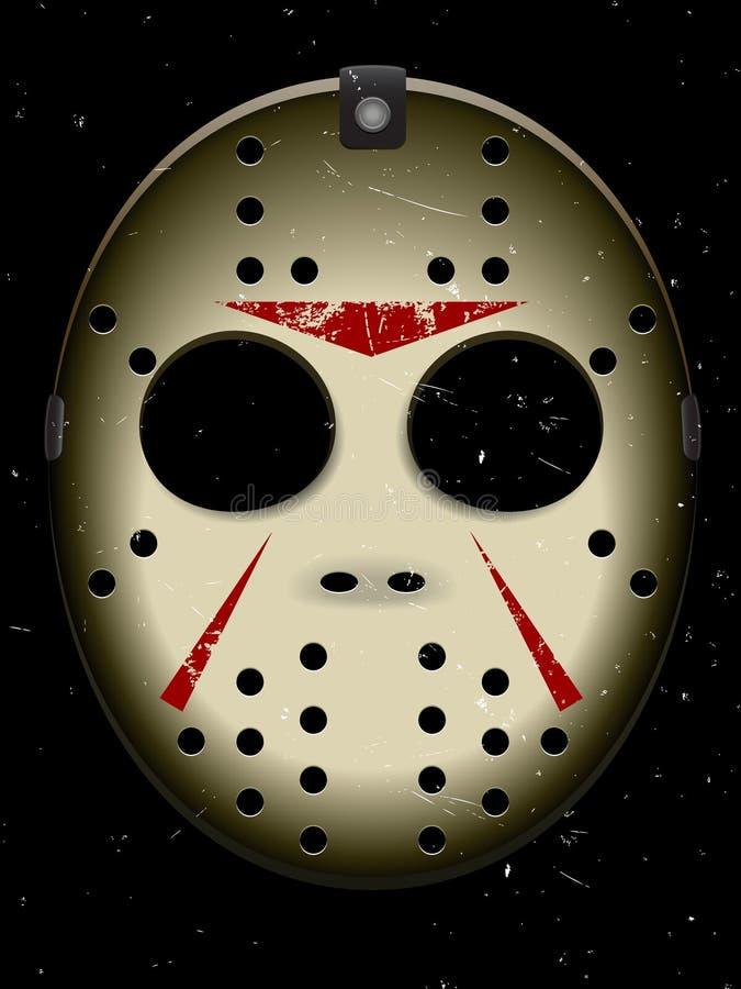 halloween hokeja maska royalty ilustracja