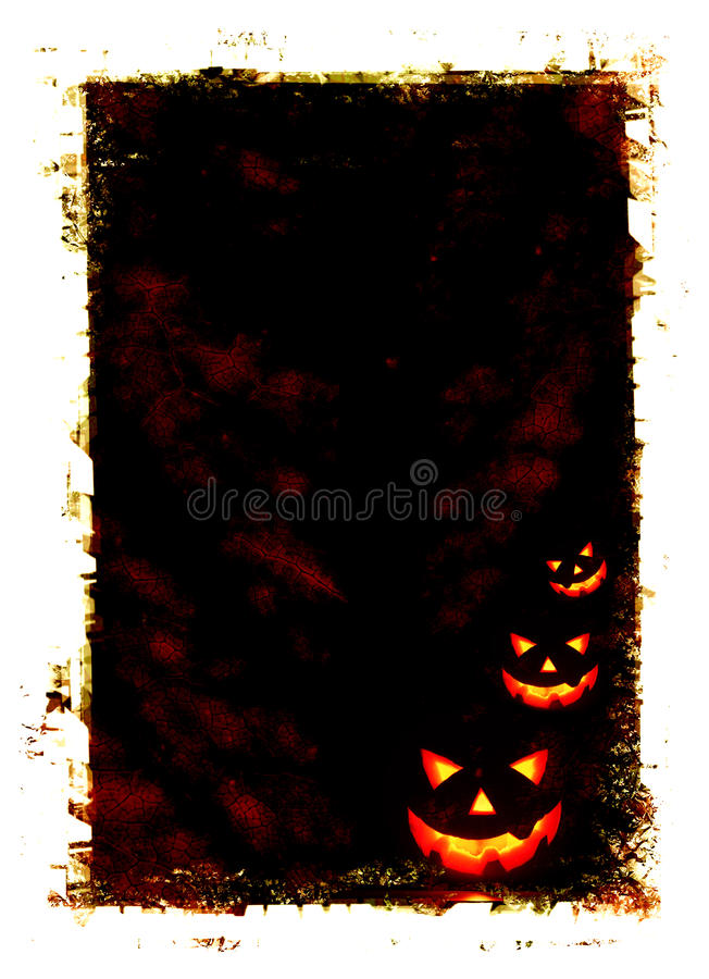 Halloween holiday card royalty free illustration