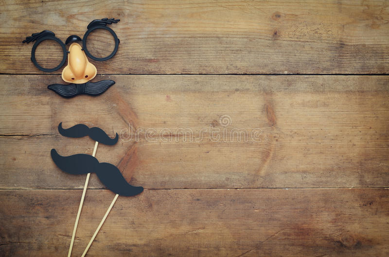 Halloween holiday concept. Funny mustache mask stock images