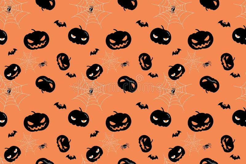 Seamless pattern design with Halloween holiday royalty free stock photos