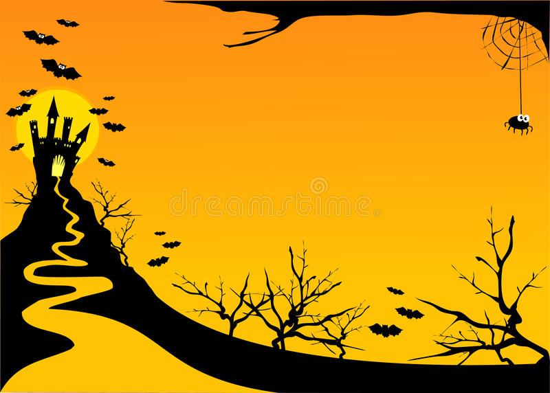 Download Halloween Horizontal Background Stock Photo - Image: 16091950