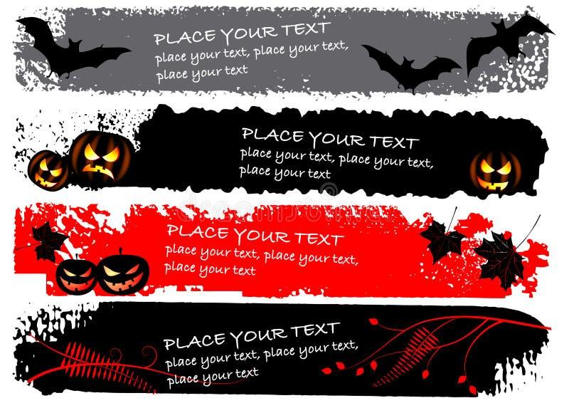 Halloween horizontal banners royalty free illustration