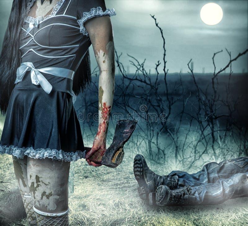 Halloween horror concept. stock photos