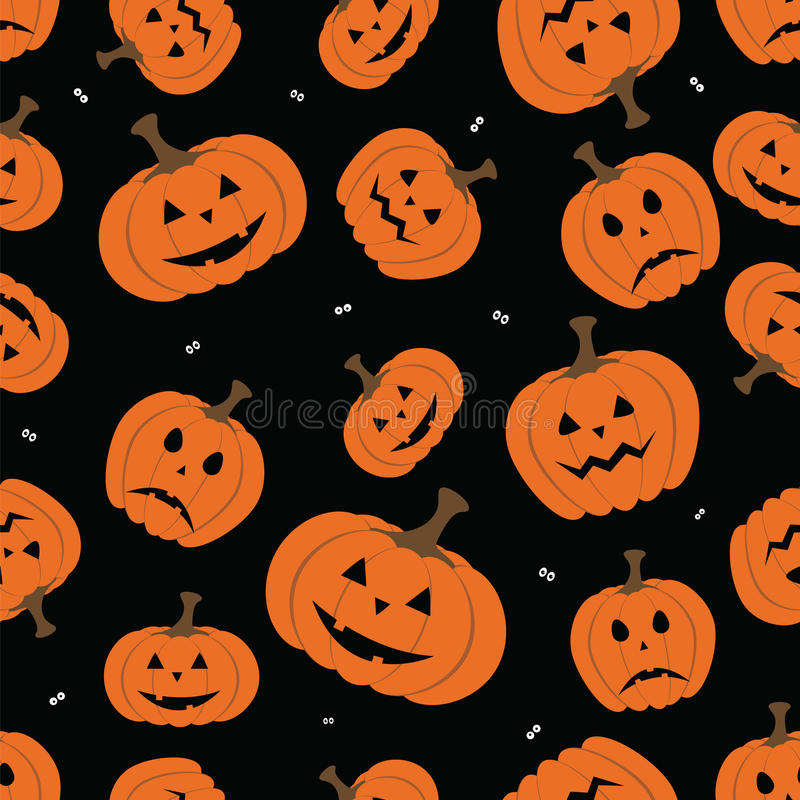 Halloween horror symbols seamless pattern background. Vector file layered for easy manipulation and custom coloring royalty free illustration