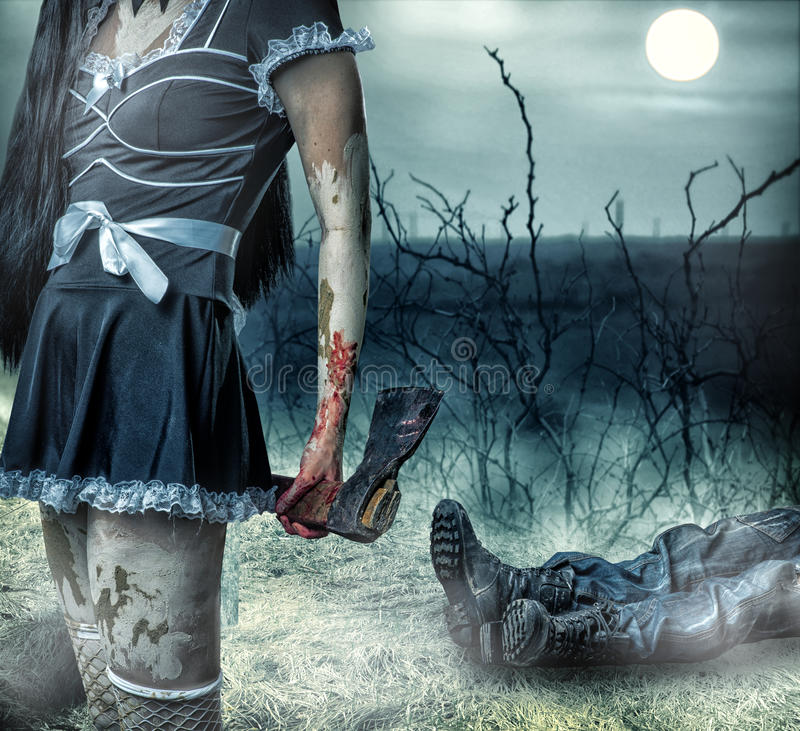 Halloween-Horrorkonzept. stockfotos