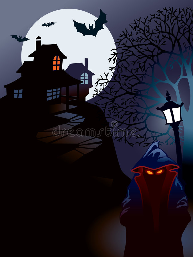 Halloween house. Perfect illustration for Halloween holiday