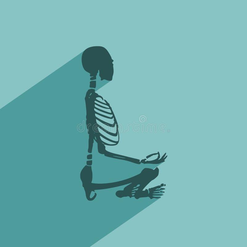 Halloween human skeleton vector illustration