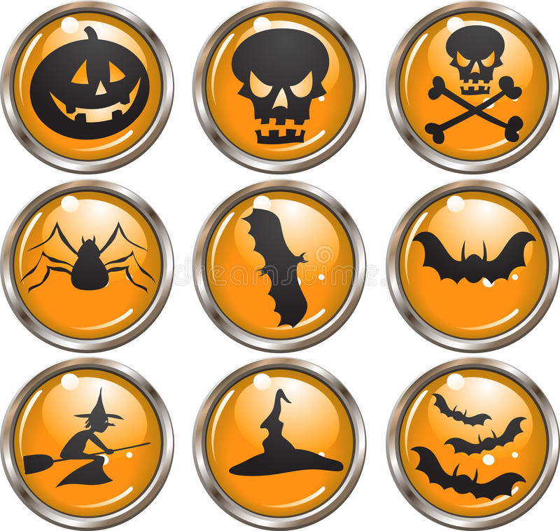 Download Halloween Icon Buttons stock illustration. Image of human - 11017574