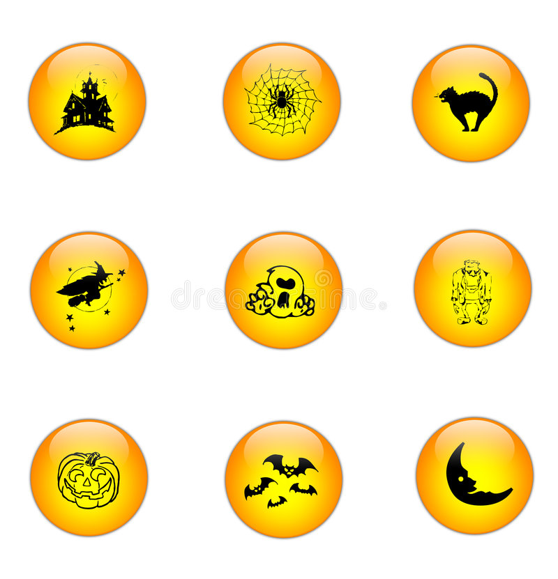 Halloween Icon Set [01] stock illustration