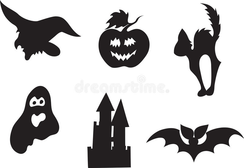 Halloween icon set stock illustration