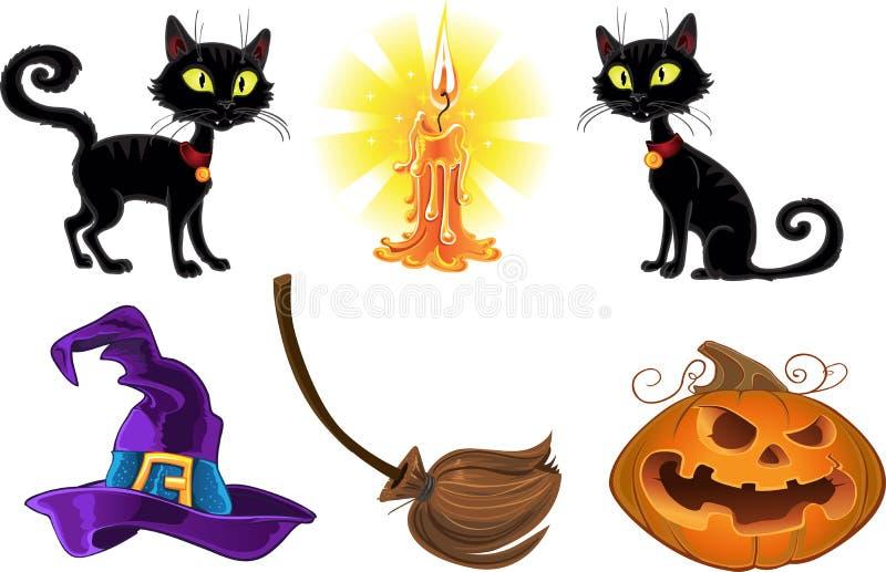 Halloween icons stock photos
