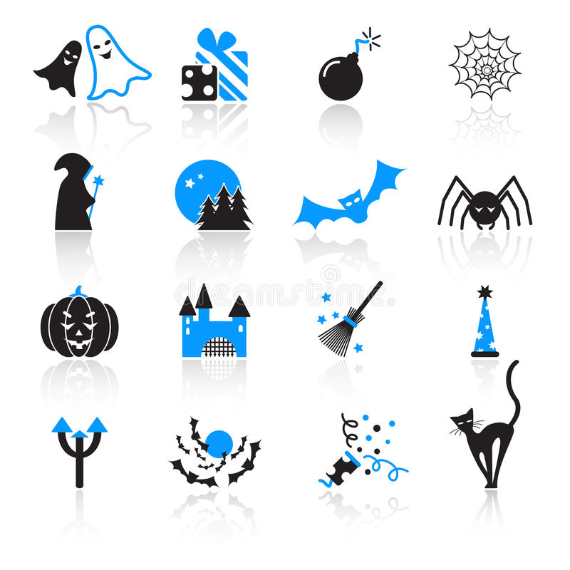 Download Halloween icons stock vector. Image of fear, spooky, cartoon - 22109798