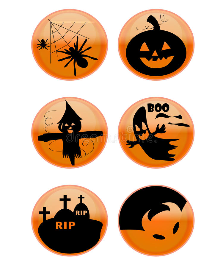 Free Halloween Icons Royalty Free Stock Images - 22662019