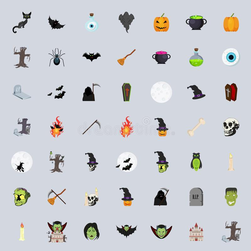 Halloween Icons Collection Set. Eps 10 vector illustration