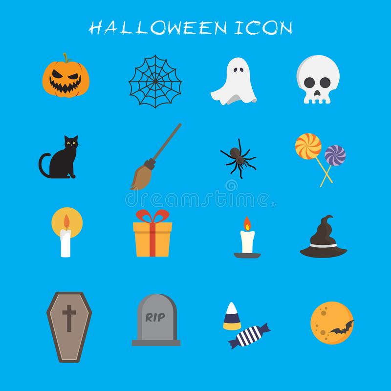 Halloween Icons Collection Set. Eps 10 stock illustration