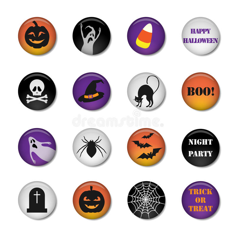 Download Halloween icons stock vector. Image of haunting, light - 34229631