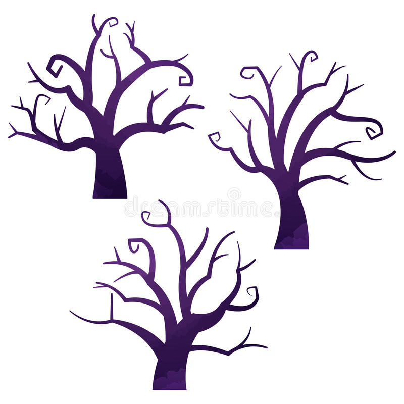 Download Halloween Icons / Dead Tree Stock Vector - Illustration of drawing, deformed: 87338160