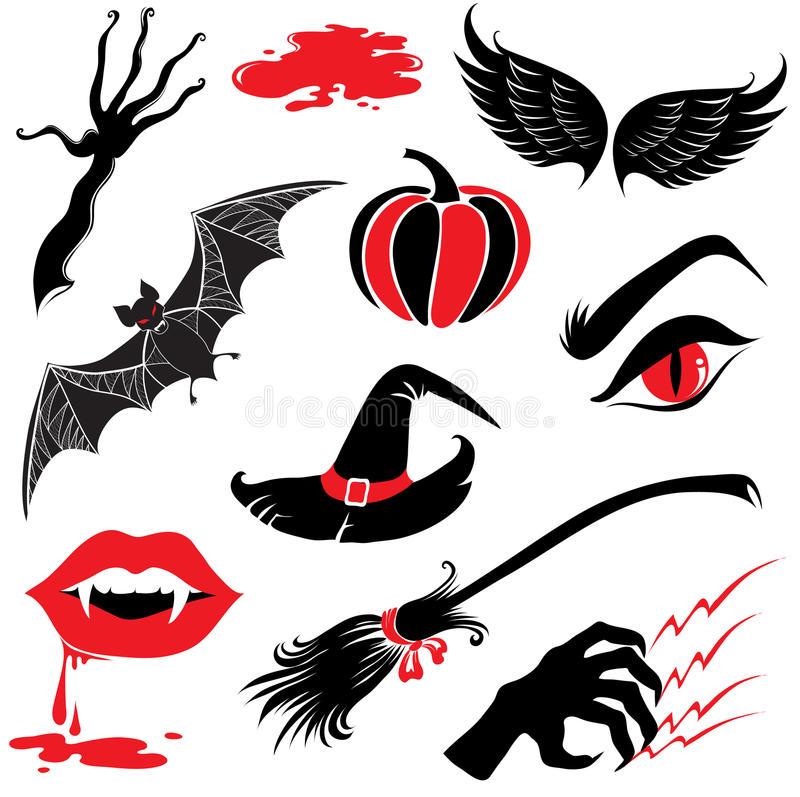 Free Halloween Icons Design Elements Royalty Free Stock Image - 10558356
