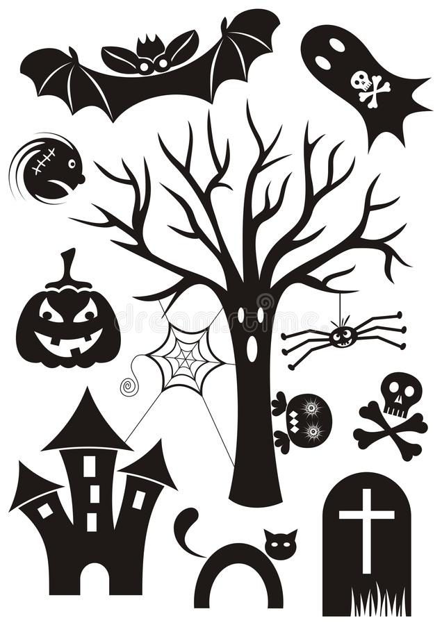 Halloween icons royalty free illustration