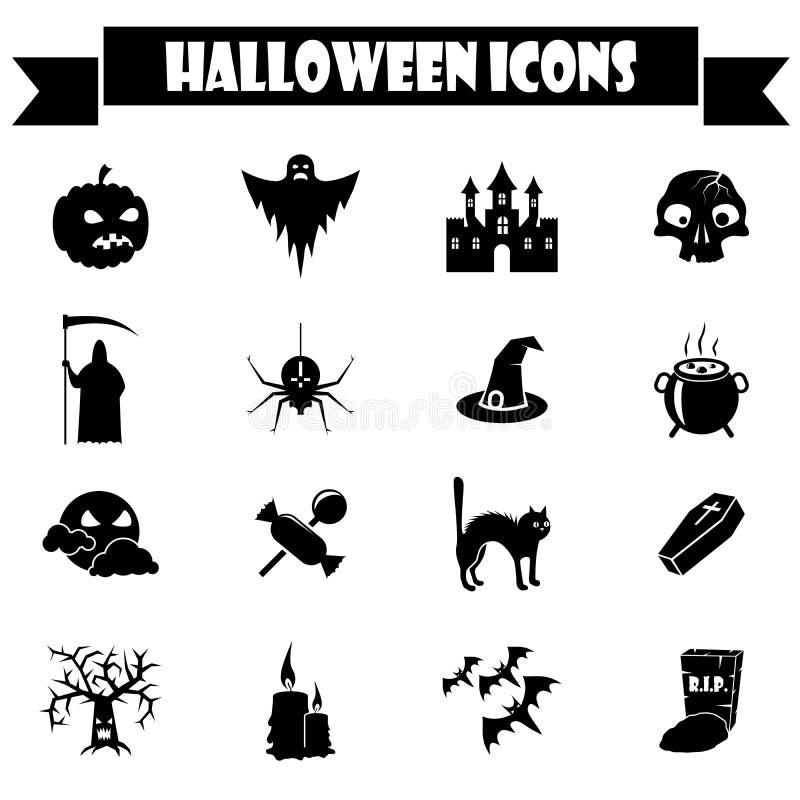 Halloween Icons Set Stock Photos