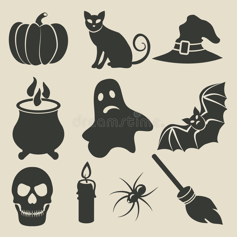 Download Halloween icons set stock vector. Image of costume, holiday - 34608252