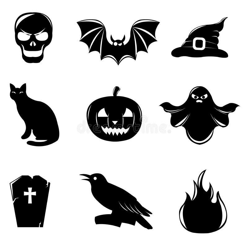 Halloween Icons. Vector Stock Photography