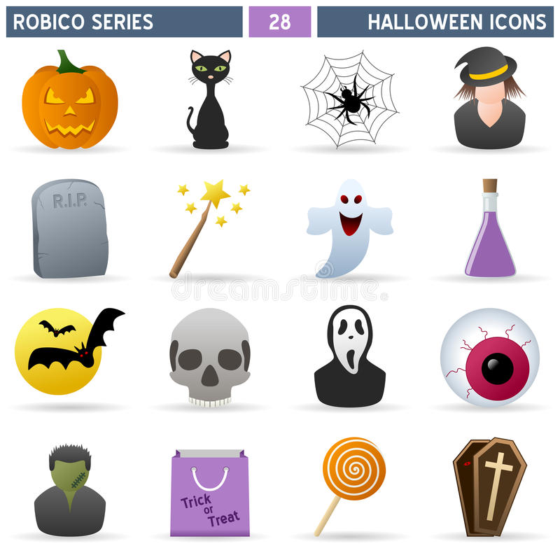 halloween ikon robico serie ilustracja wektor