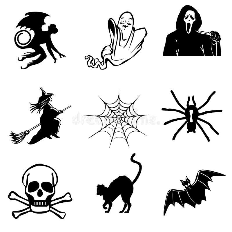 Halloween-Ikonenansammlung vektor abbildung