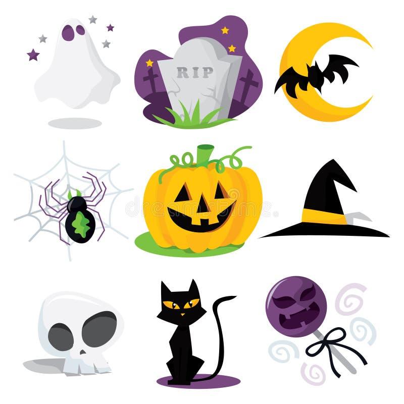 Halloween-Illustraties stock illustratie