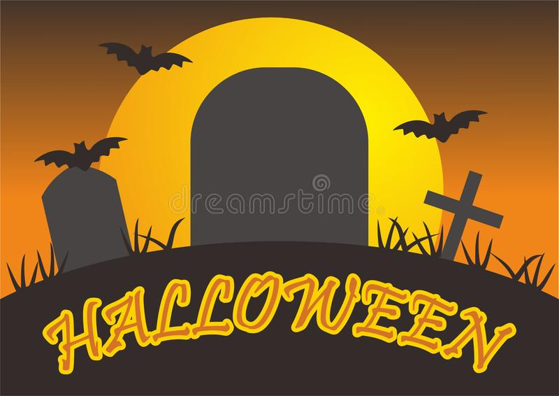 Halloween-illustratievector royalty-vrije stock foto's