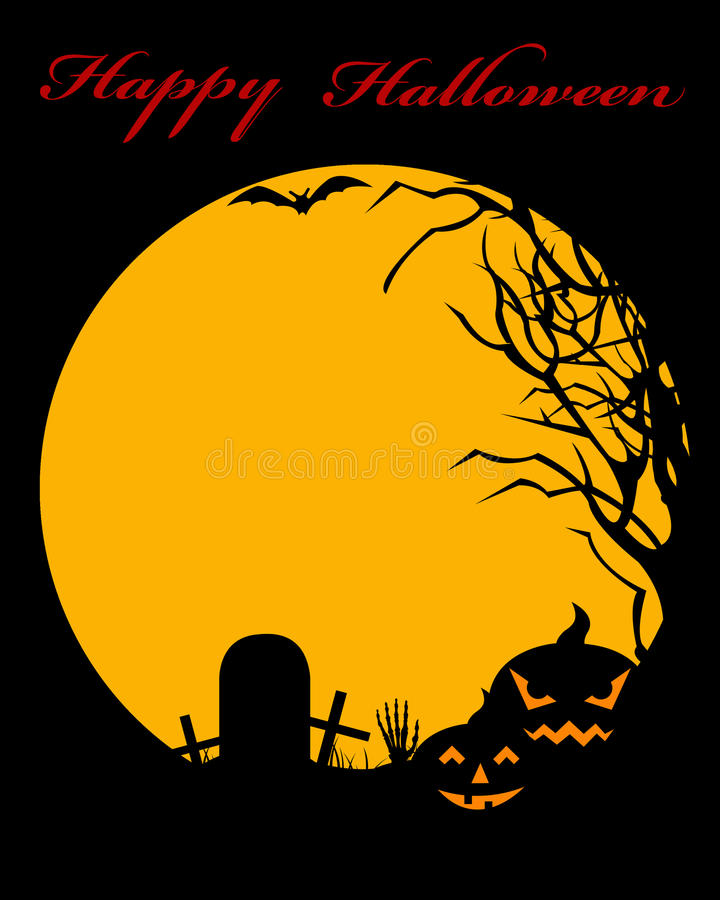 Halloween Illustration royalty free illustration