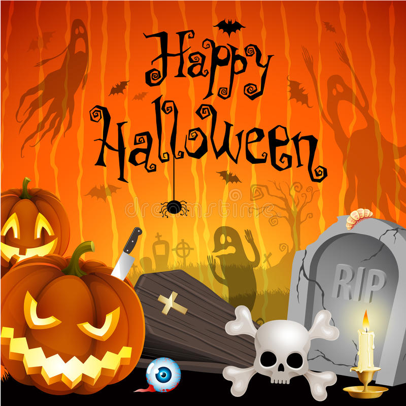 halloween illustration stock illustrationer