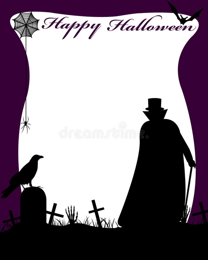 Halloween Illustration With Dracula vector illustration