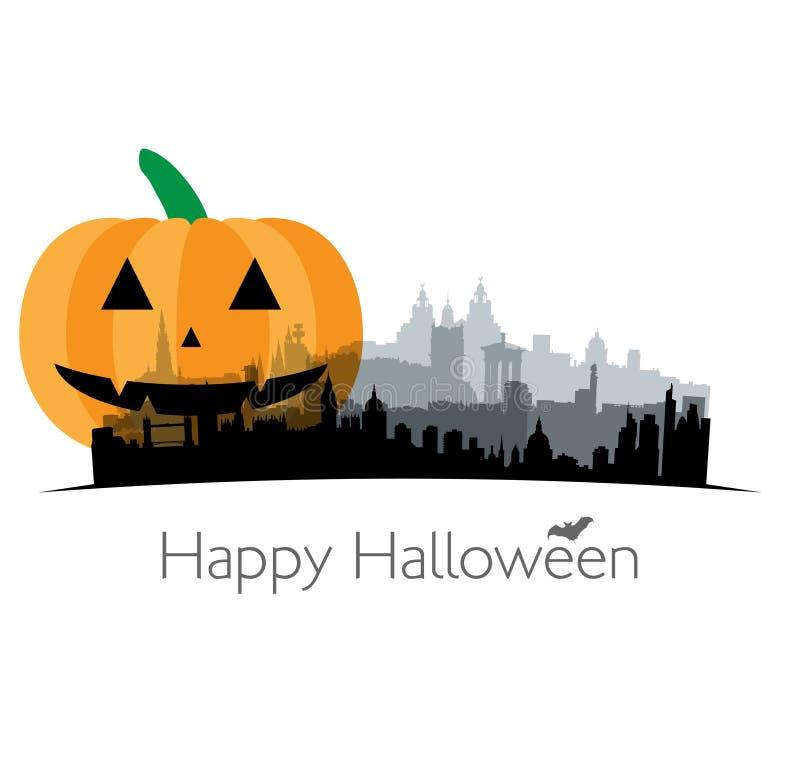 Halloween illustration of Great Britain vector illustration