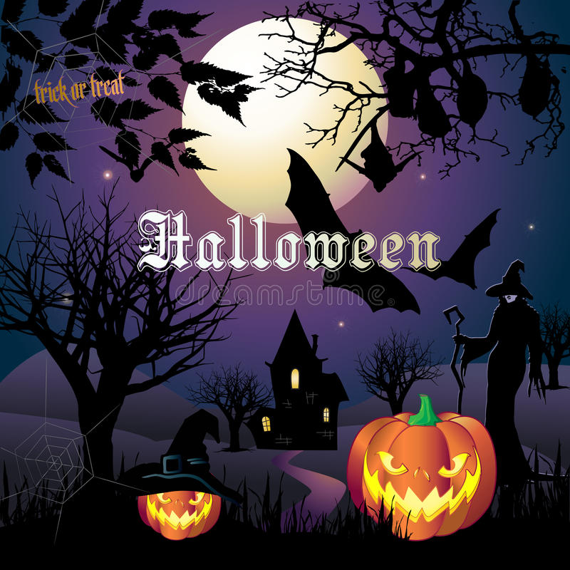 Download Halloween stock vector. Illustration of holiday, greeting - 79627967