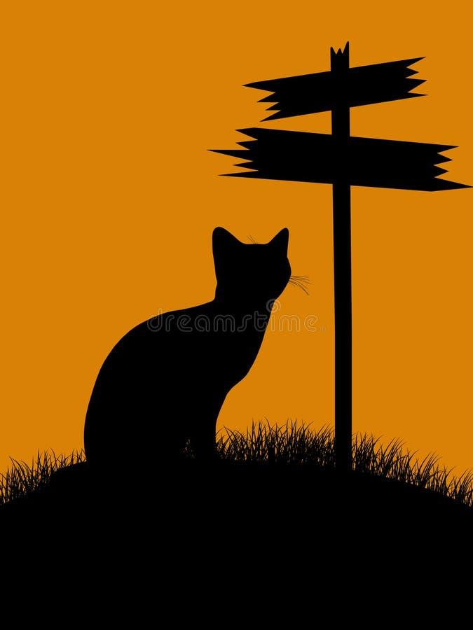 Download Halloween Illustration Silhouette Stock Illustration - Illustration of sign, fall: 10210498
