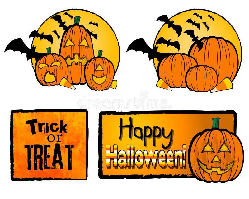 halloween illustrationer vektor illustrationer