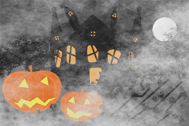 halloween ilustracyjne dynie zestaw wektora ilustracja wektor