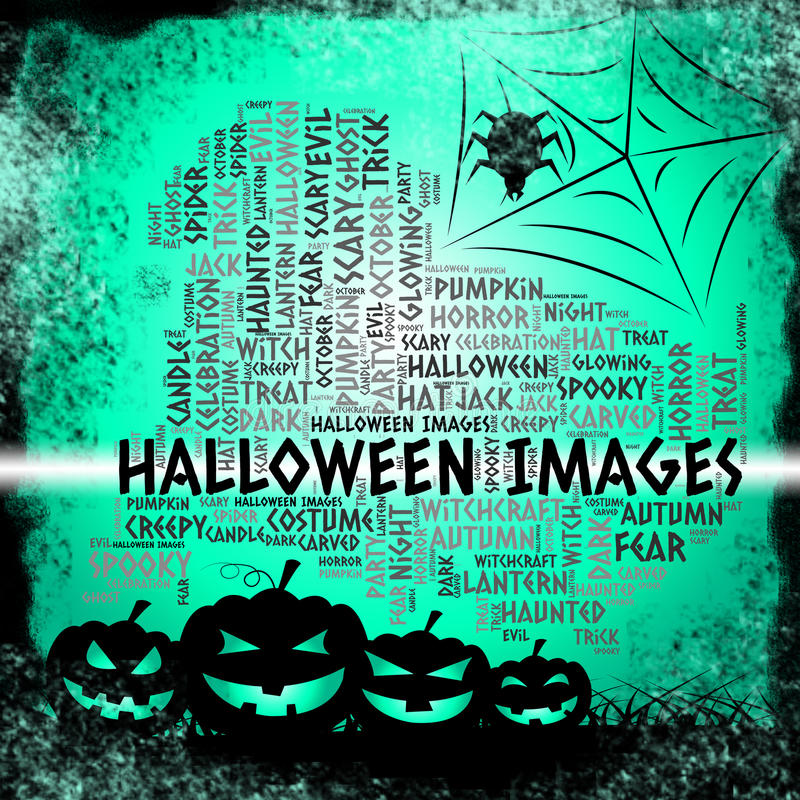 Halloween Images Means Trick Or Treat And Celebration stock illustration