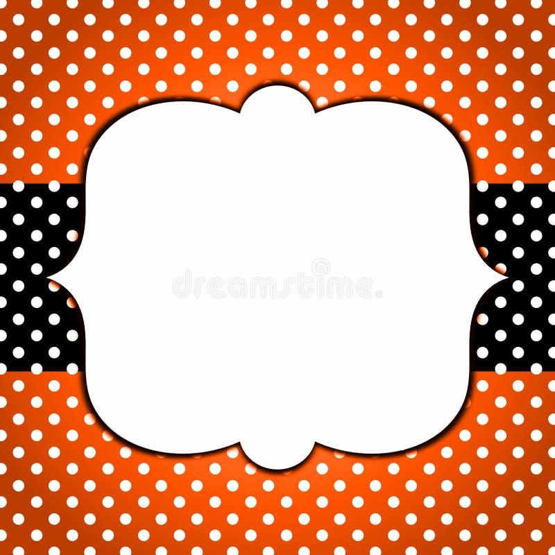 Halloween Invitation Card Polka dots royalty free stock images