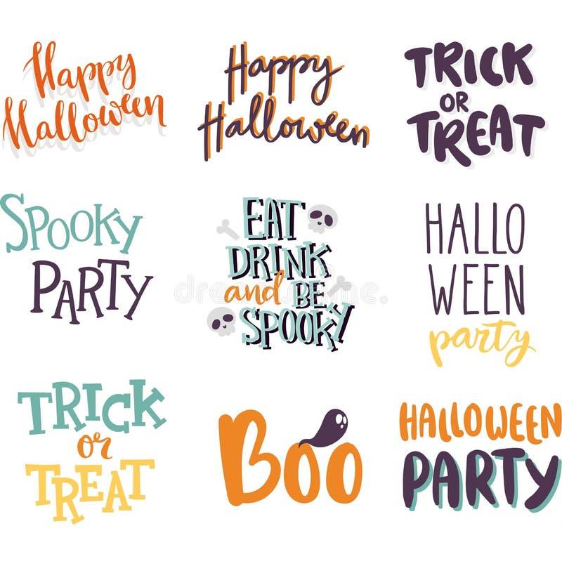 Halloween invitation cards vector. stock illustration
