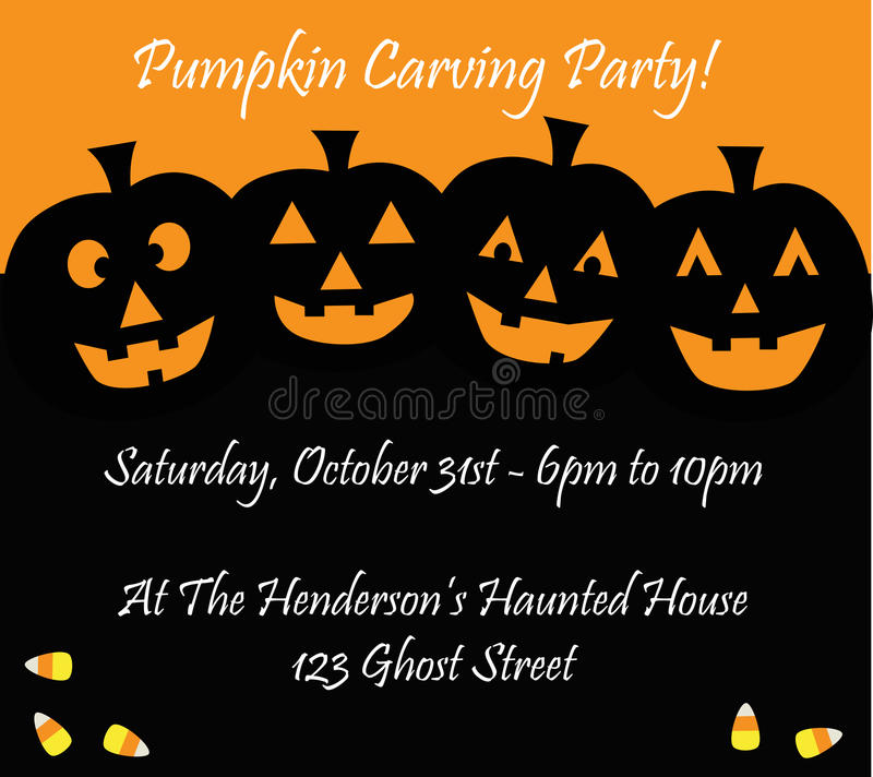 Halloween Invitation vector illustration