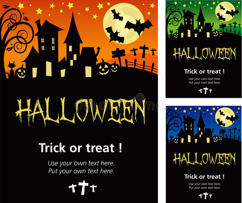 Halloween invitation poster or card illustration stock vector download halloween invitation poster or card illustration stock vector illustration of treat night stopboris Image collections